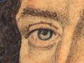 Detail of the sitter's right eye.
