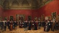 Private View of the Old Masters Exhibition, Royal Academy, 1888, by Henry Jamyn Brooks - NPG 1833