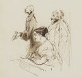 General Phipps, Mrs Norton and 2nd Baron Alvanley at the theatre, by Edwin Landseer - NPG 4918