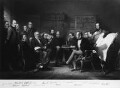 Engraving after 'The Coalition Ministry, 1854', by William Walker, after  Sir John Gilbert - NPG 1125a