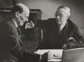 Clement Attlee; Arthur Greenwood, by Felix H. Man (Hans Baumann) - NPG P16