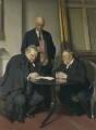 Conversation piece (G.K. Chesterton; Maurice Baring; Hilaire Belloc), by Sir James Gunn - NPG 3654