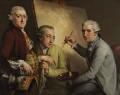 Agostino Carlini; Francesco Bartolozzi; Giovanni Battista Cipriani, by John Francis Rigaud - NPG 3186