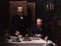 Sir Walter Besant; James Rice, by Archibald John Stuart Wortley - NPG 2280
