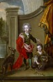 Richard Boyle, 3rd Earl of Burlington and 4th Earl of Cork; Lady Jane Boyle, after Sir Godfrey Kneller, Bt - NPG 2495