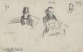 Three sketches, by Sydney Prior Hall - NPG 2316