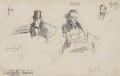 Three sketches, by Sydney Prior Hall - NPG 2316