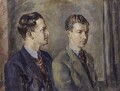 Peter Pears; Benjamin Britten, by Kenneth Green - NPG 5136