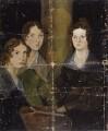 The Brontë Sisters (Anne Brontë; Emily Brontë; Charlotte Brontë), by Patrick Branwell Brontë - NPG 1725
