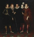 The 1st Earl of Monmouth and his family, attributed to Paul van Somer - NPG 5246