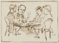 Four men at cards, by Fred Walker - NPG 1841b
