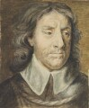 Oliver Cromwell, by Robert Hutchinson, after a drawing attributed to  Samuel Cooper - NPG 2426