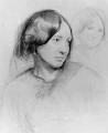 Unknown woman, formerly known as George Eliot (Mary Ann Cross (née Evans)), by Sir Frederic William Burton - NPG 2210