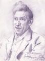 William Henry Davies, by Augustus Edwin John - NPG 3149