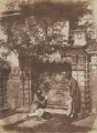 The Nasmyth Tomb (Thomas Duncan; David Octavius Hill), by David Octavius Hill, and  Robert Adamson - NPG P6(227)