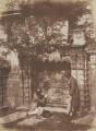 The Nasmyth Tomb (Thomas Duncan; David Octavius Hill), by David Octavius Hill, and  Robert Adamson - NPG P6(227)