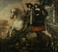 King Charles II and Jane Lane riding to Bristol, by Isaac Fuller - NPG 5251