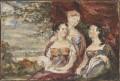 Mary Gardiner, Harriet Gardiner and Louisa Gardiner; Daughters of Colonel Thomas Gardiner, by Sir George Hayter - NPG 883(11)