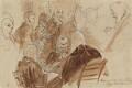 Group including 1st Baron Gifford, Lushington, Baron Lyndhurst, di Spineto and 1st Baron Truro, by Sir George Hayter - NPG 1695(i)