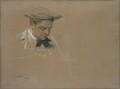 Sir Alfred Gilbert, by John McLure Hamilton - NPG 1865