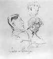 Henry Tonks; Percy Grainger, by George Washington Lambert - NPG 3137a