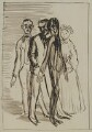 Sir Hugh Percy Lane; John Millington Synge; W.B. Yeats; Isabella Augusta (née Persse), Lady Gregory, by Sir William Orpen - NPG 4676