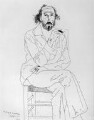 Richard Hamilton, by David Hockney - NPG 5279