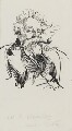 William Ernest Henley, by Harry Furniss - NPG 3586