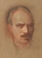 Maurice Henry Hewlett, by Sir William Rothenstein - NPG 2213
