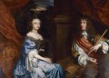 Anne Hyde, Duchess of York; King James II, by Sir Peter Lely - NPG 5077