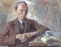 Edward Johnston, by Arthur Henry Knighton-Hammond - NPG 4375