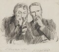 Frederic Leighton, Baron Leighton; Clifford Lloyd, by Sydney Prior Hall - NPG 2262