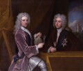 Thomas Pelham-Holles, 1st Duke of Newcastle-under-Lyne; Henry Clinton, 7th Earl of Lincoln, by Sir Godfrey Kneller, Bt - NPG 3215