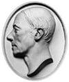 Robert Owen, by Julian Leverotti, after a life-mask by  James Deville - NPG 602