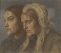 Christina Georgina Rossetti; Frances Mary Lavinia Rossetti (née Polidori), by Dante Gabriel Rossetti - NPG 990