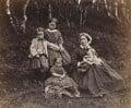 Mrs Donald Stewart and her children, by George Washington Wilson - NPG P22(26)