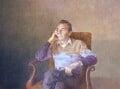 Sir Dirk Bogarde, by David Tindle - NPG 5891
