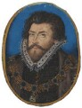 Sir Christopher Hatton, by Nicholas Hilliard - NPG 5549