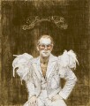 Elton John ('On the throne'), by Suzi Malin - NPG 6563