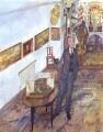 Sir John Newenham Summerson, by Leonard Rosoman - NPG 5730