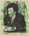 Sid Vicious, by Peter Gravelle - NPG P739