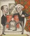 'Like Father: Like Son (XIV)' (Malcolm John MacDonald; Ramsay MacDonald), by Anthony Wysard - NPG 6123