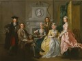 Jonathan Tyers and his family, by Francis Hayman - NPG 5588