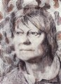 Iris Murdoch, by Tom Phillips - NPG 5944(4)