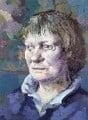 Iris Murdoch, by Tom Phillips - NPG 5944(7)