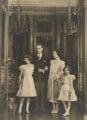 Queen Elizabeth II; King George VI; Queen Elizabeth, the Queen Mother; Princess Margaret, by Marcus Adams - NPG P140(13)