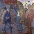 Trade Unionists (Joe Gormley; Thomas Jackson; Sidney Weighell), by Hans Schwarz - NPG 5749