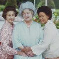 Queen Elizabeth II; Queen Elizabeth, the Queen Mother; Princess Margaret, 1980, by Norman Parkinson - NPG P198