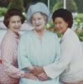 Queen Elizabeth II; Queen Elizabeth, the Queen Mother; Princess Margaret, 1980, by Norman Parkinson - NPG P198