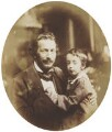 Spiridone Gambardella and an unknown child, attributed to Sir Anthony Coningham Sterling - NPG P171(14)
